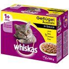 Whiskas 1+ Adult portionspåsar 12 x 100 g
