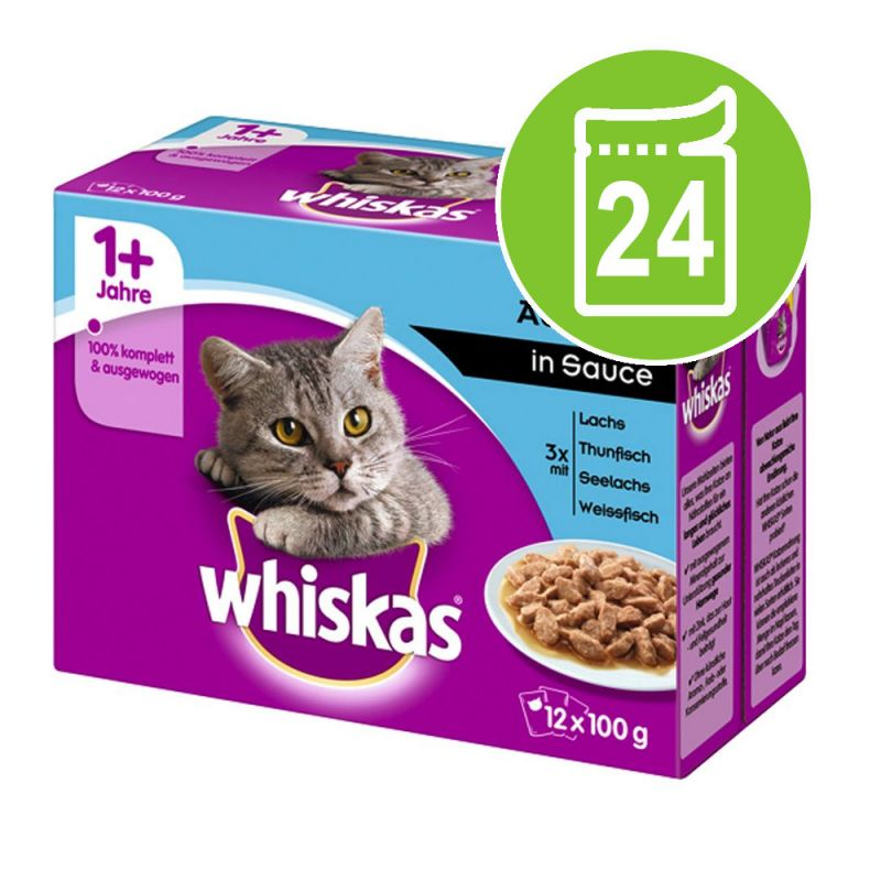 Whiskas 1+ Adult Pouches 24 x 100 g