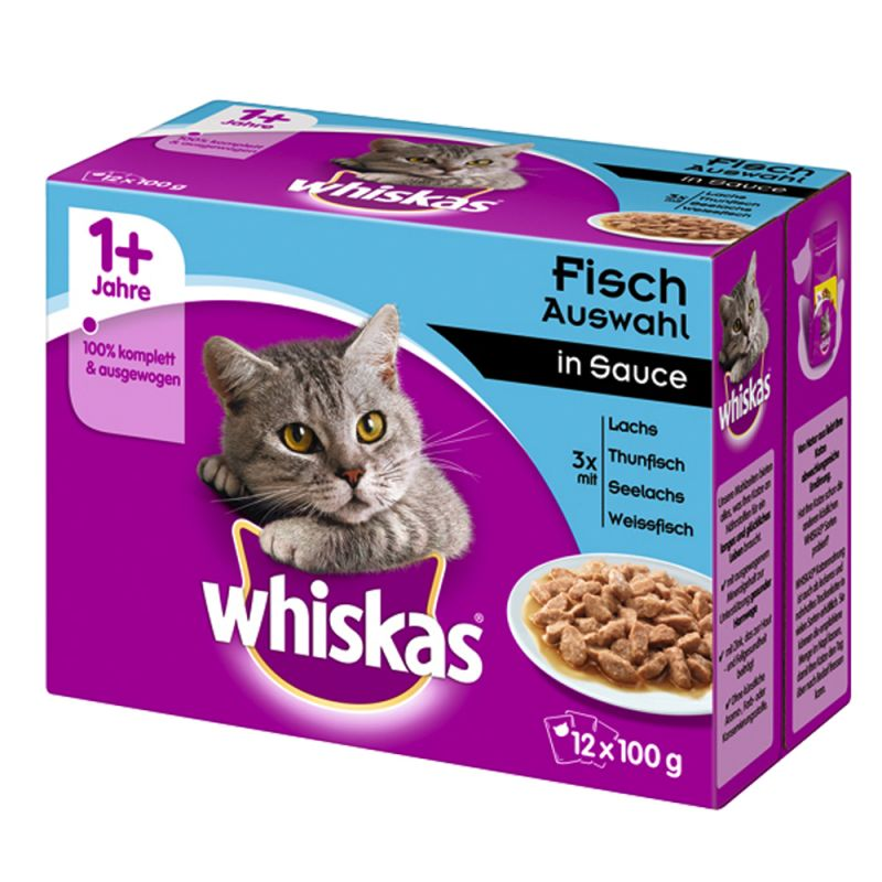 Whiskas 1+ Adult Pouches 12 x 85 g / 100 g