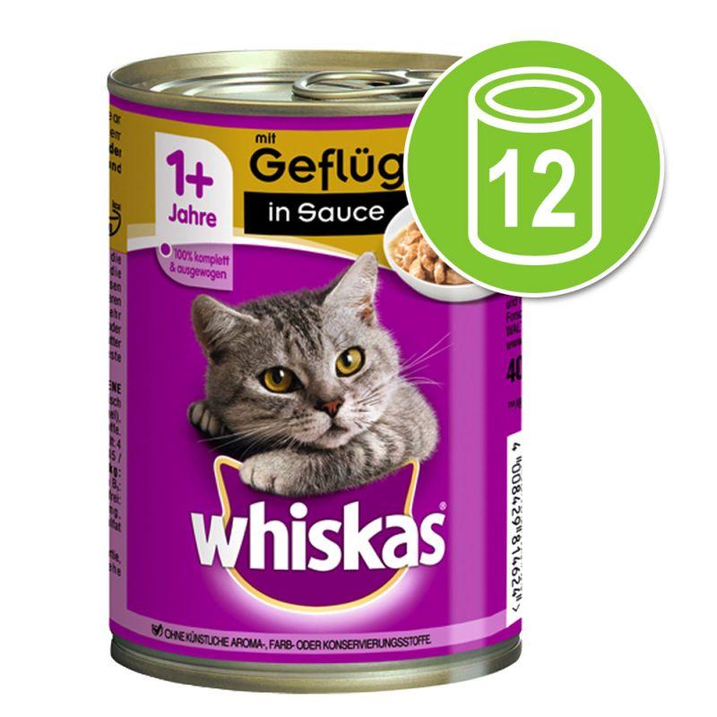 Whiskas Adult 1+ -purkkiruoka 12 x 400 g