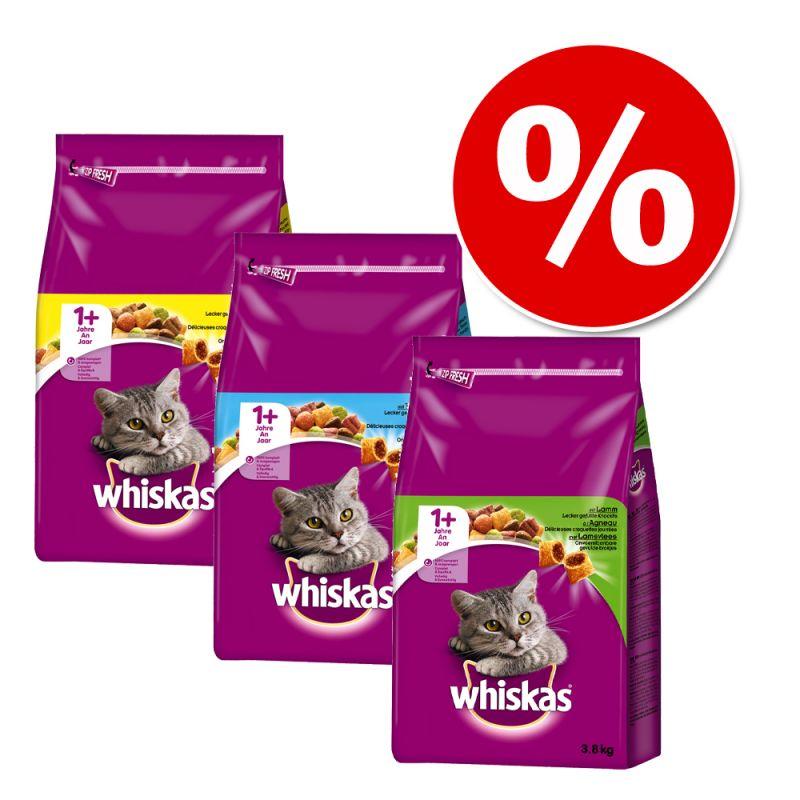 Whiskas Adult -valikoima 3 x 3,8 kg