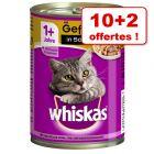 Whiskas Adult 1+ 10 x 400 g + 2 boîtes offertes !