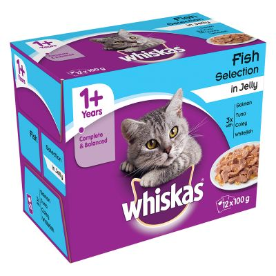 Whiskas 1+, adulte 48 x 100 g