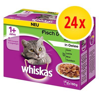 Whiskas 1+, adulte 24 x 100 g