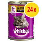 Whiskas 1+ años en lata 24 x 400 g