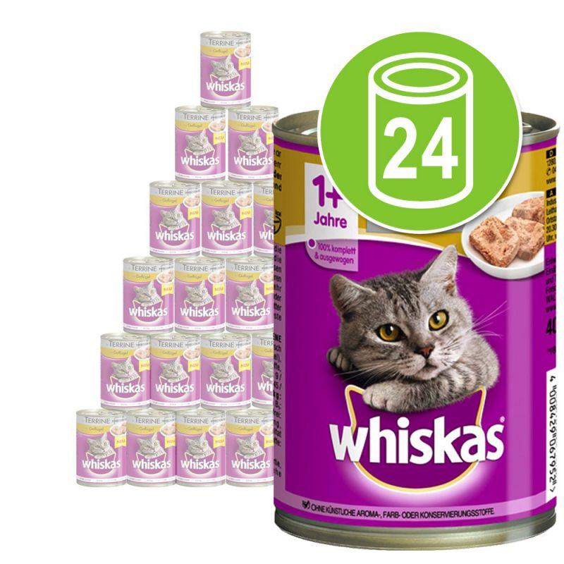 Whiskas 1+ años en latas 24 x 400 g - Pack Ahorro