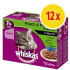 Whiskas 7+ años 12 x 100 g en bolsitas
