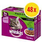 Whiskas 7+ años 48 x 85 / 100 g en bolsitas