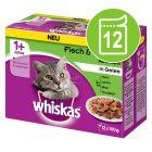 Whiskas 1+ años 12 x 85/100 g en bolsitas