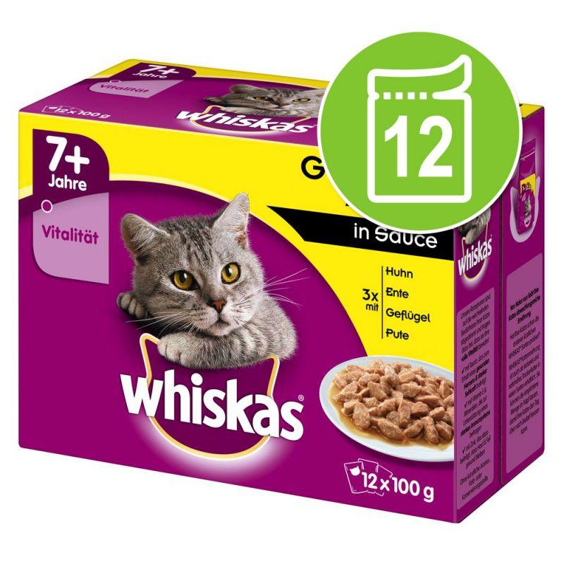 Whiskas 7+ años 12 x 85/100 g en bolsitas