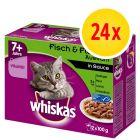 Whiskas 7+ años 24 x 85 / 100 g en bolsitas