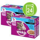 Whiskas 1+ años 24 x 85/100 g en bolsitas - Pack Ahorro
