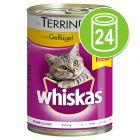 Whiskas 1+ Blikken in Gelei / Saus Kattenvoer 24 x 400 g