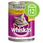 Whiskas 1+ Blikken in Gelei / Saus Kattenvoer 12 x 400 g