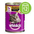 Whiskas 1+ burkar 12 x 400 g