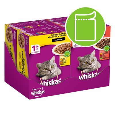 Whiskas 1+ Casserole Poultry & Meaty Selection in Jelly