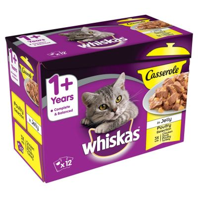 Whiskas 1+ Casserole Poultry Selection in Jelly
