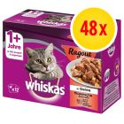 Whiskas Casserole 48 x 85 g en bolsitas