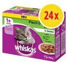 Whiskas 1+ Classic Selectie Maaltijdzakjes Kattenvoer 24 x 100 g