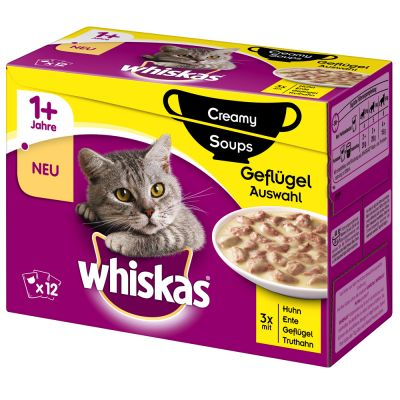 Whiskas 1+ Creamy Soup Poultry Selection