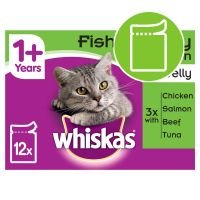 Whiskas 1+ Fish & Meat Selection in Jelly