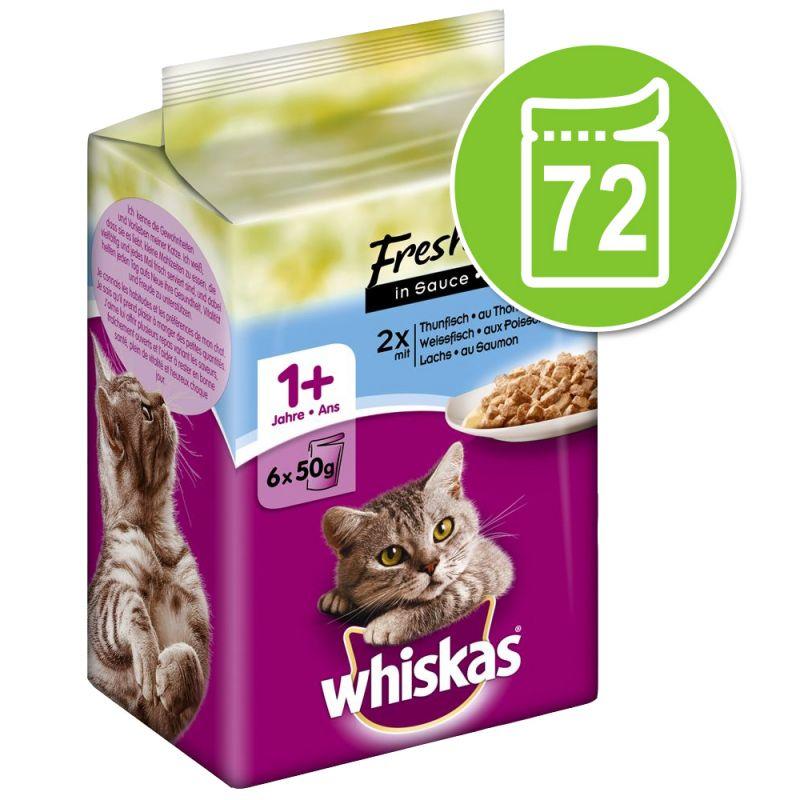 Whiskas Fresh Menue -säästöpakkaus 72 x 50 g