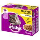 Whiskas 1+ frissentartó tasakban 12 x 100 g