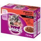 Whiskas Junior Classic Selectie in Saus / Gelei Maaltijdzakjes Voordeelpakket 24 x 85 g / 100 g