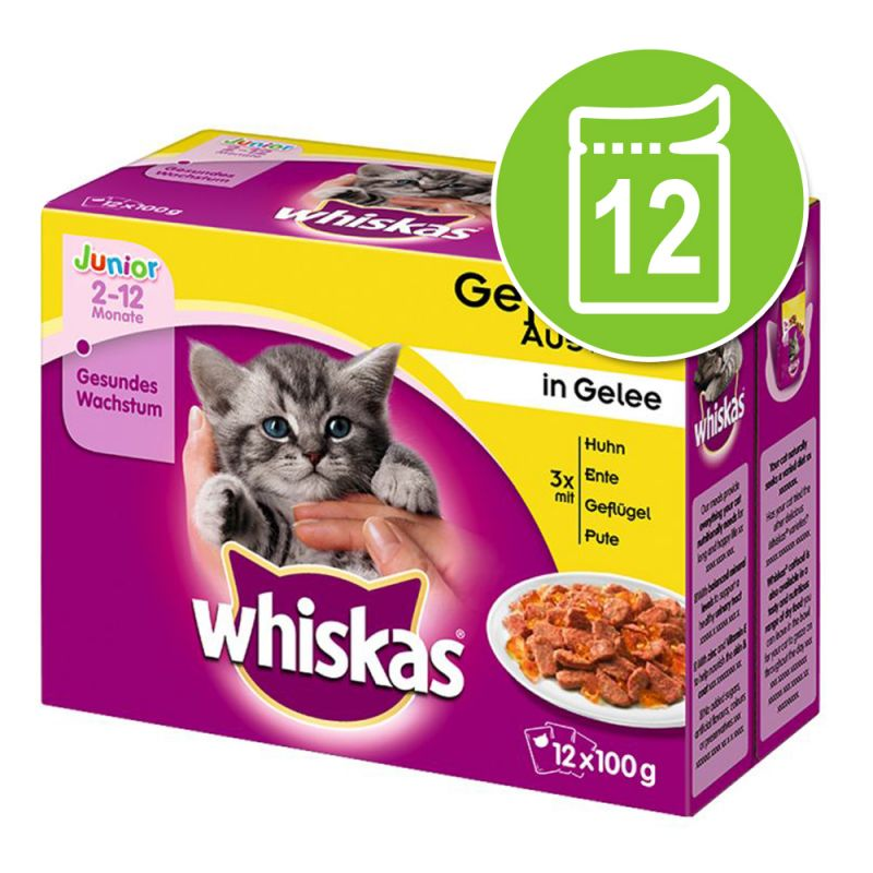 Whiskas Junior frissentartó tasakban 12 x 85/100 g
