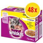 Whiskas Junior 2-12 meses 48 x 85 / 100 g en bolsitas