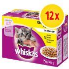 Whiskas Junior 2-12 meses 12 x 85 / 100 g en bolsitas