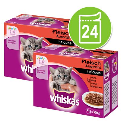 Whiskas Junior 2-12 meses 24 x 85/100 g en bolsitas - Pack Ahorro
