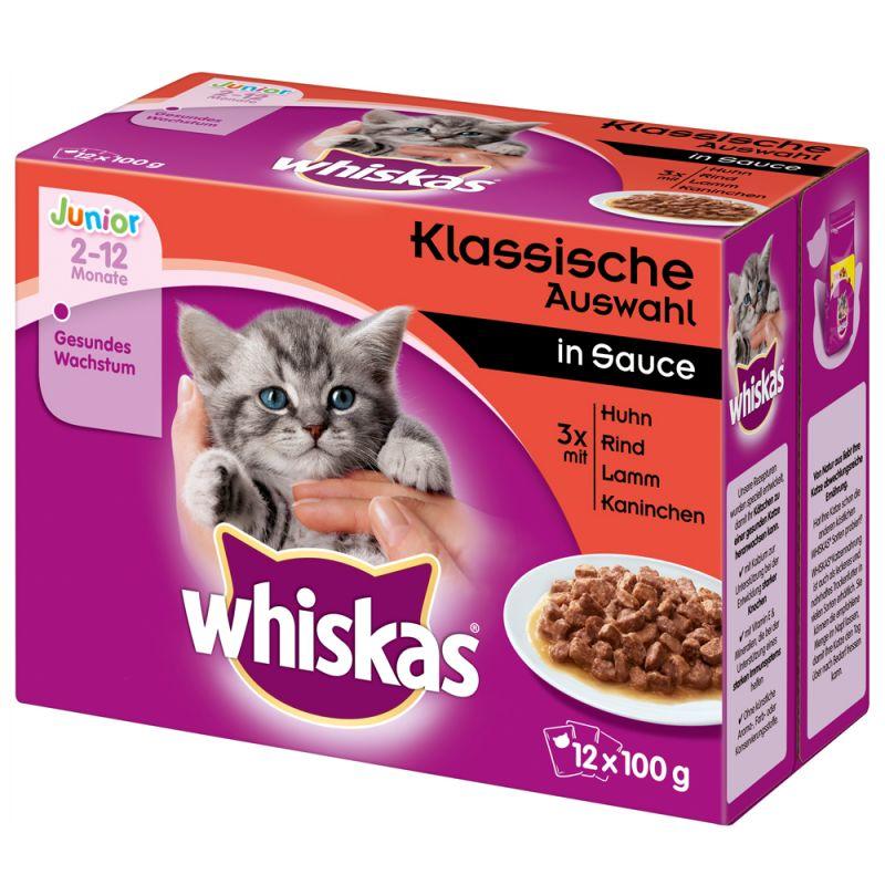 Whiskas Junior portionspåse 12 x 85/100 g