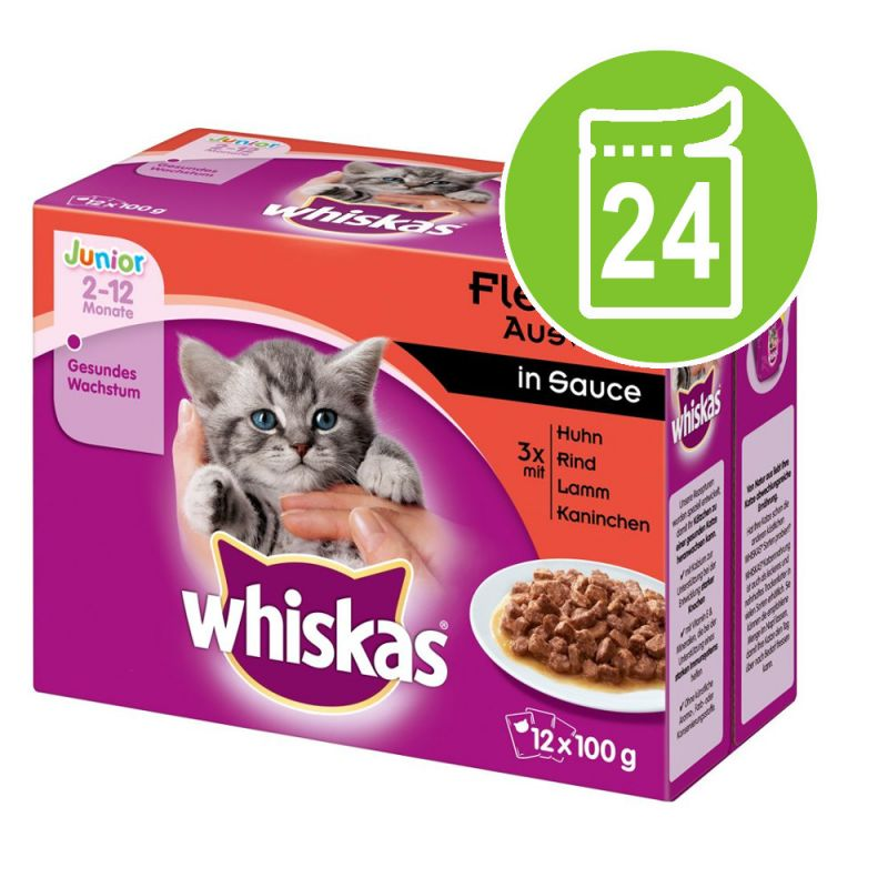 Whiskas Junior Pouches 24 x 100 g