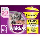 Whiskas Kitten Casserole Poultry Selection in Jelly