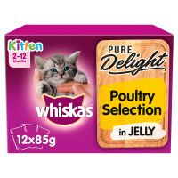 Whiskas Kitten Pure Delight Poultry Selection in Jelly
