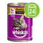 Whiskas 1+ latas 24 x 400 g - Pack económico