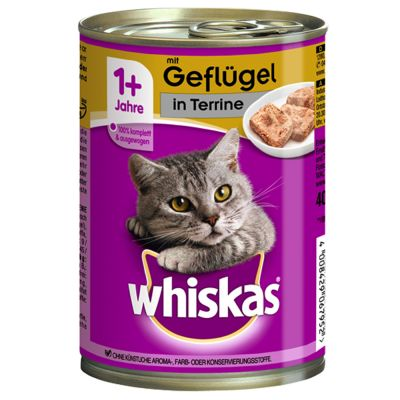 Whiskas 1+ lattine 12 x 400 g