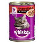 Whiskas 1+ Oksekød & Lever i sovs