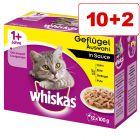 Whiskas pouches kissanruoka: 10 + 2 pussia kaupan päälle!
