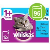 Whiskas 1+ Pouches Mega Pack 96 x 100g*
