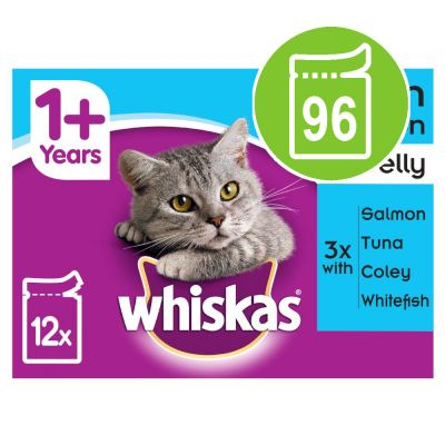 Whiskas 1+ Pouches Mega Pack 96 x 100g