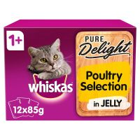 Whiskas 1+ Pure Delight Poultry Selection in Jelly