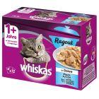 Whiskas 1+ Ragout Menuboks, Fiskeudvalg i gelé
