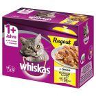 Whiskas 1+ Ragout Menuboks, Fjerkræ i gelé