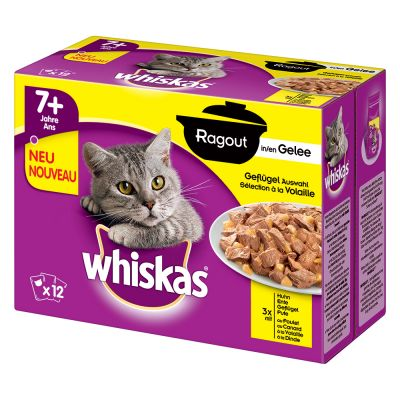 Whiskas 7+ Senior Pouches 48 x 100 / 85 g