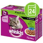 Whiskas 7+ Senior Pouches 24 x 100 g