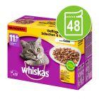 Whiskas 11+ Senior Selectie in Gelei Maaltijdzakjes Kattenvoer 48 x 100 g