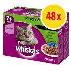 Whiskas 7+ Senior Selectie in Saus / Gelei Maaltijdzakjes Kattenvoer Voordeelpakket 48 x 85 g / 100