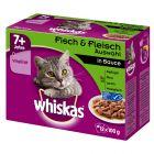Whiskas 7+ Senior Selectie in Saus Maaltijdzakjes Kattenvoer